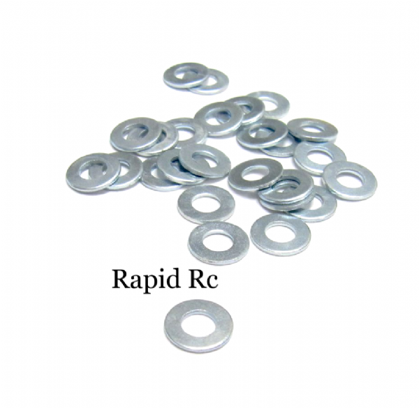 Flat Washer Bright Zinc 4mm